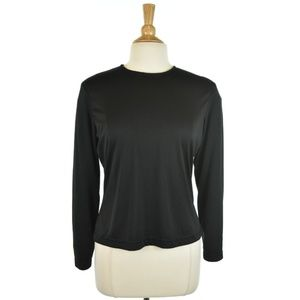 Ann Taylor Long Sleeve Cropped Shirt In Black